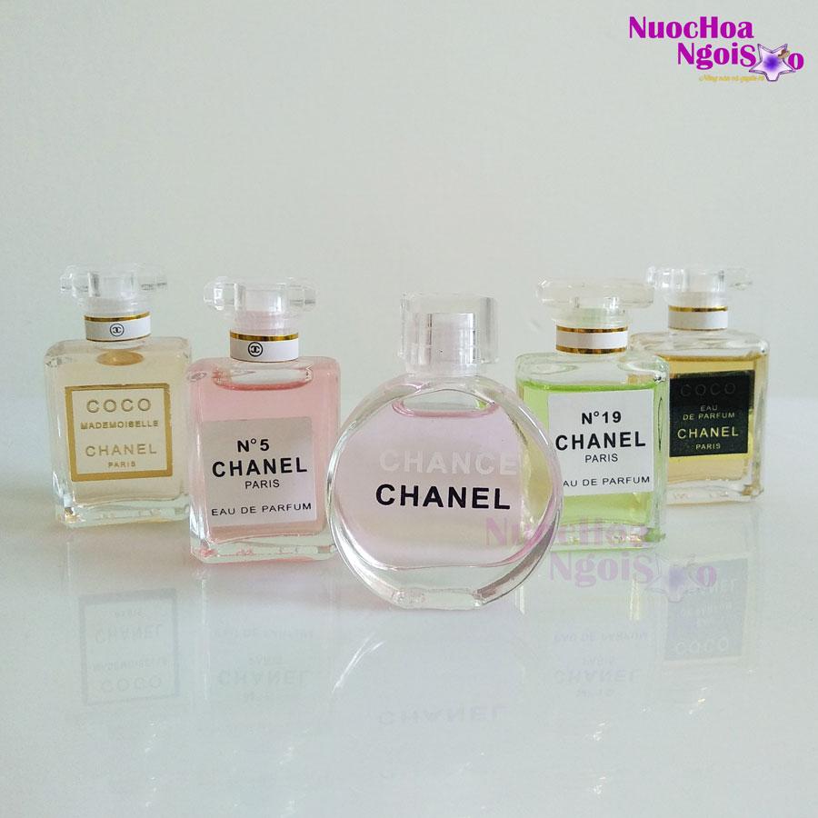 Set 5 Chai Nước Hoa Nữ Chanel Mini Chance