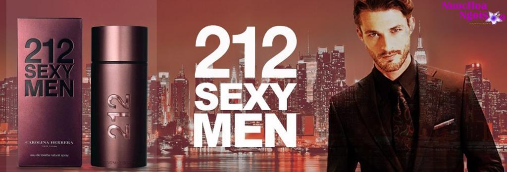 Hương thơm của 212 Sexy Men thể hiện hình mẫu các chàng trai thành thị sành điệu và rất biết cách thể hiện mình.