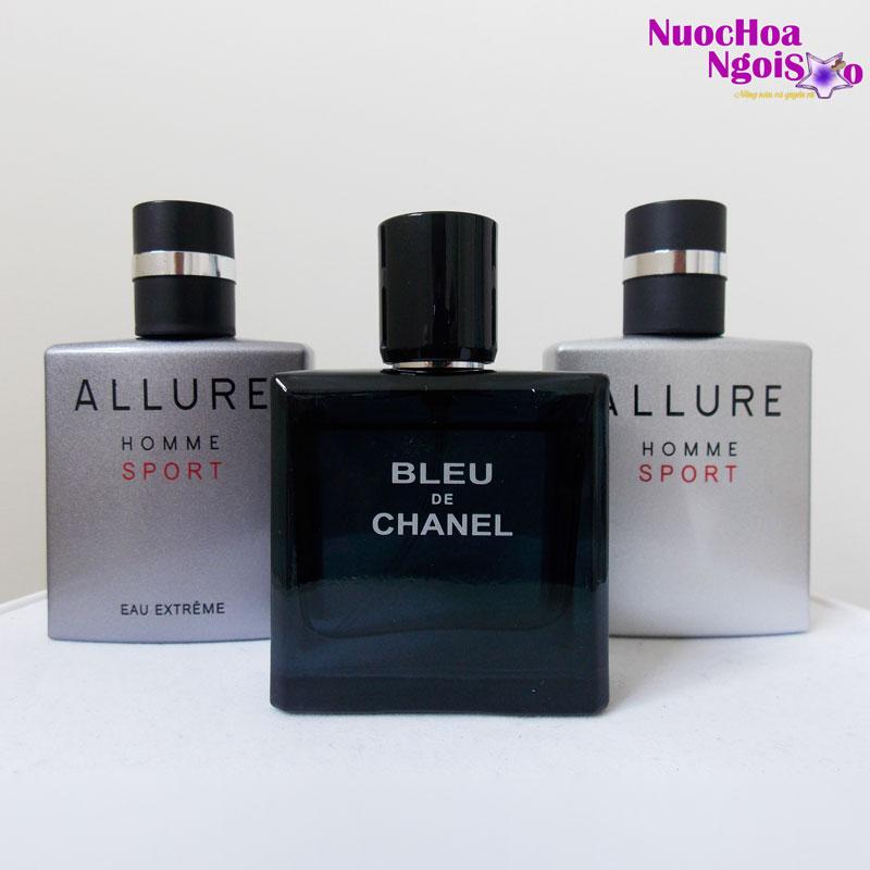 Set 3 chai nước hoa nam Chanel Pháp