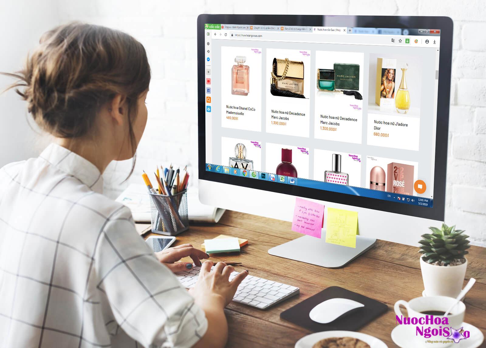 Mua sắm online tại shop nước hoa ngôi sao, giúp quý khách đỡ tốn thời gian.