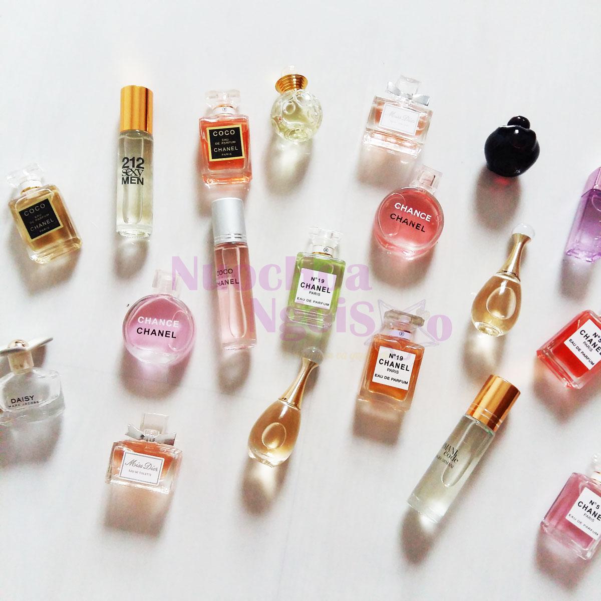 Những chai nước hoa mini nhỏ gọn, thuận tiện mang theo bên mình.