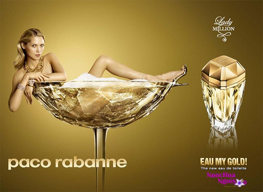 Nước hoa nữ Lady Million Eau My Gold của hãng PACO RABANNE