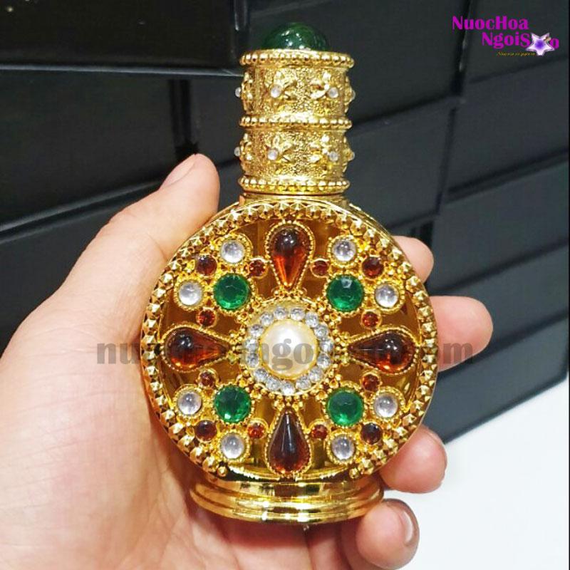 Tinh dầu nước hoa Dubai đính ngọc Gold
