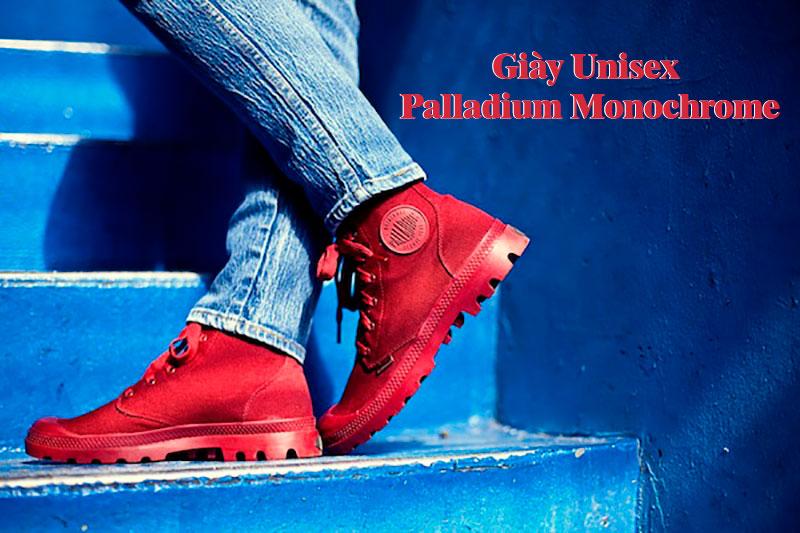 Giày Unisex Palladium Lookbook Maroon Detail