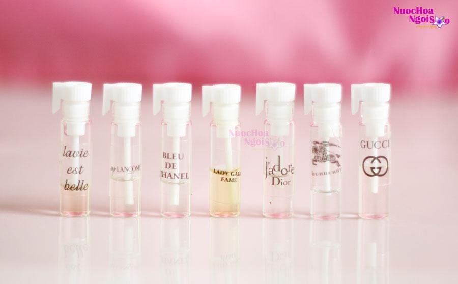 Những mẫu thử nước hoa có dung tích từ 1-2ml, giá rất rẻ