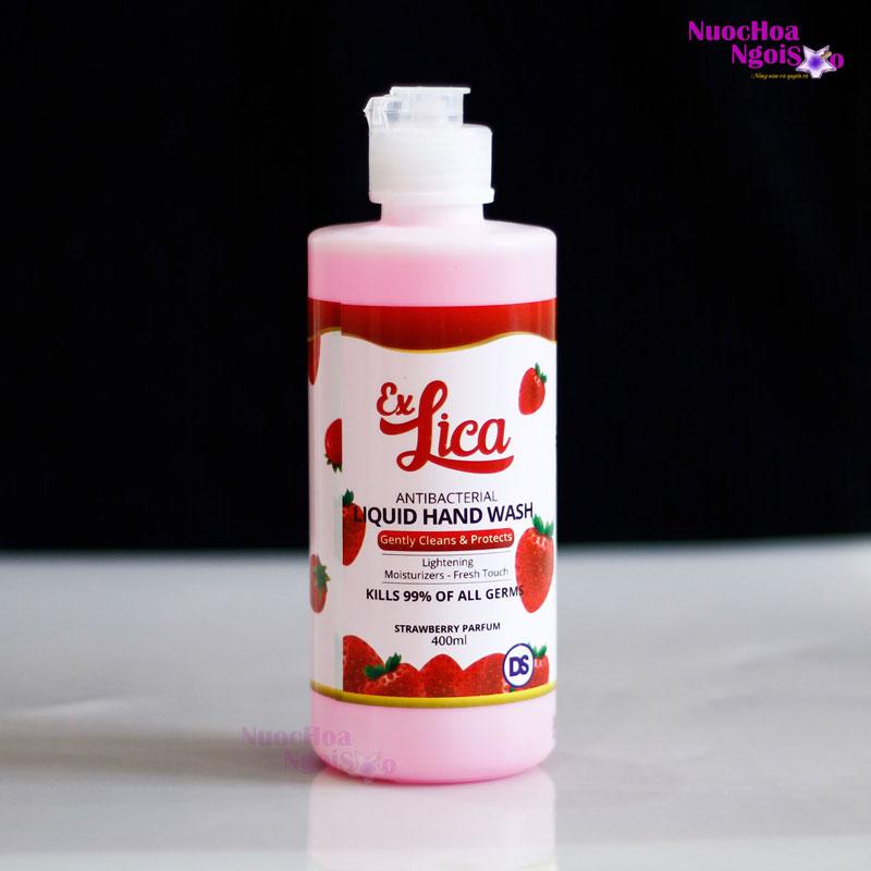 Sữa rửa tay kháng khuẩn Exlica hương nước hoa hương dâu