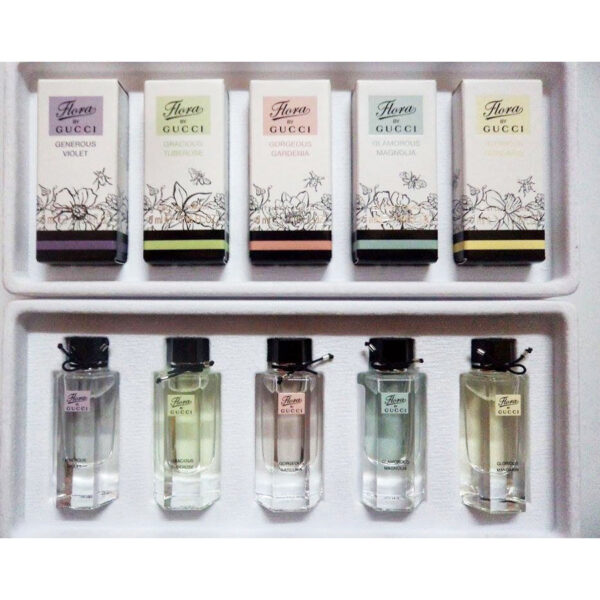 Set 5 chai nước hoa mini Gucci Flora