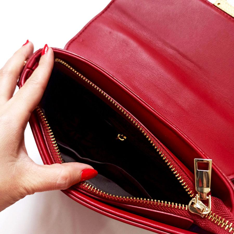 Túi đeo chéo nữ da mềm màu đỏ - Túi xách nữ Quảng Châu