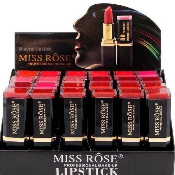 Bán sỉ son môi hộp 24 cây son 3D Miss Rose