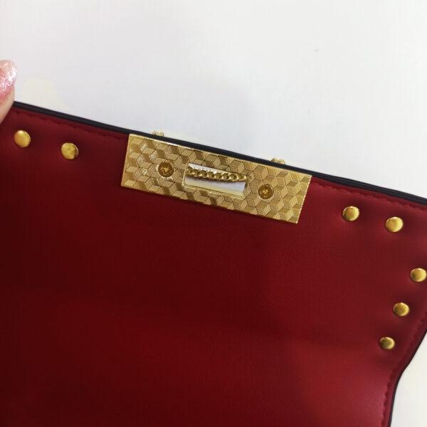 Túi xách nữ màu đỏ dáng bầu - Túi Quảng Châu