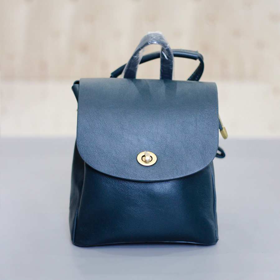Balo da đẹp cho nữ màu xanh - Balo Quảng Châu cao cấp