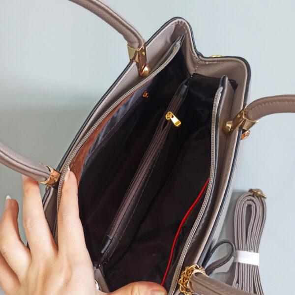 Túi xách nữ công sở màu xám da đẹp - Túi xách Quảng Châu