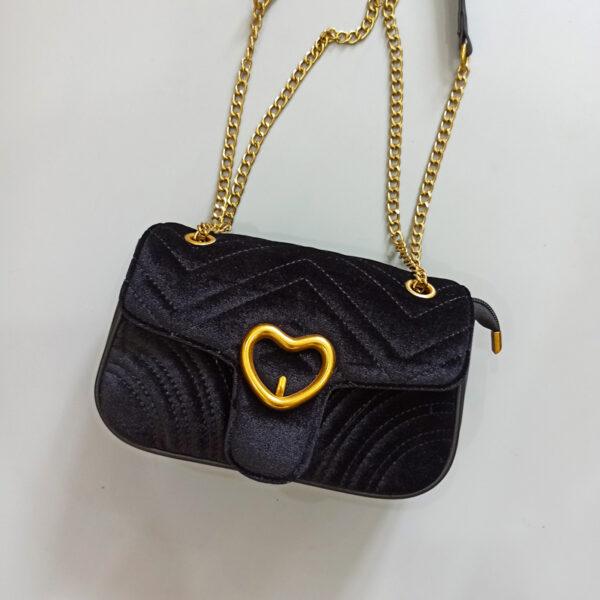 Túi xách nữ nhung đen - Túi xách Quảng Châu